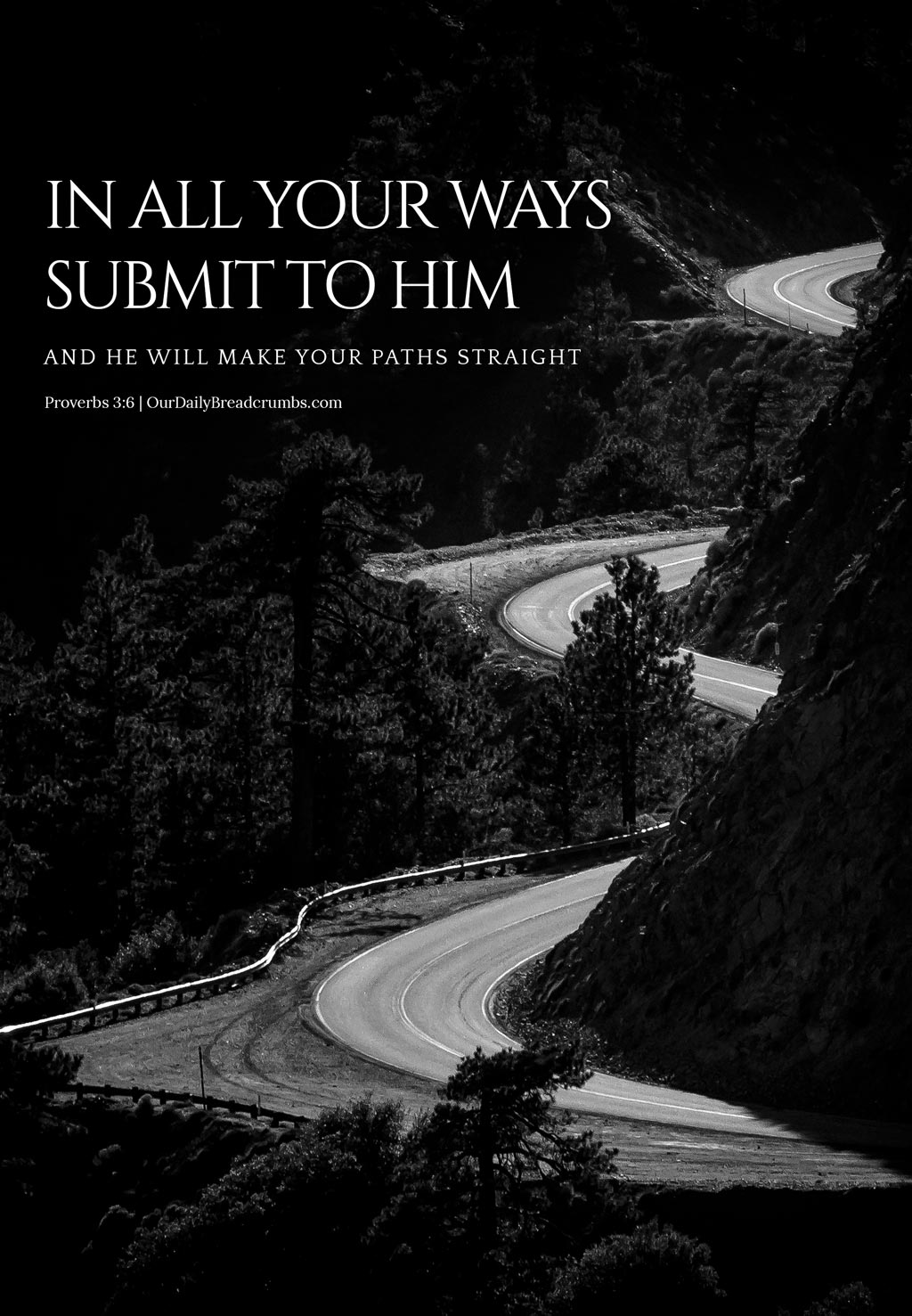 In all your ways submit to him, and he will make your paths straight Proverbs 3-6